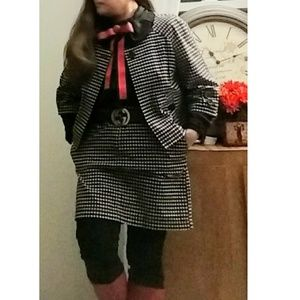 Loft by Ann Taylor Houndstooth skirt suit